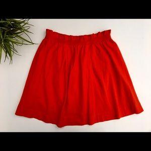 MNG mini red/orange mini skirt, ruffle waist